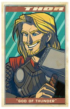 Avengers Poster: Thor by EmpressFunk