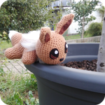 Eevee crochet stuffed animal by Tithoyie