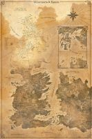 Game of Thrones Map - Westeros and Essos by FabledCreative