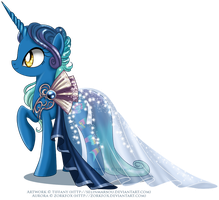 Commission - Gala Gown for Aurora by selinmarsou