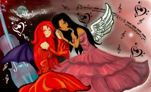 Devil Elira and Angelical me by aylincita2498