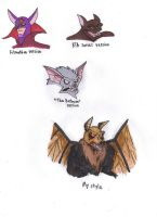 Different Styles of Manbat by KessieLou