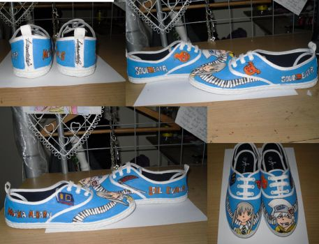 SoulXMaka soul eater shoes by LaurenLuvsAnime