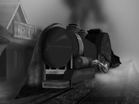 Close-up of Train by my-art-rebirth