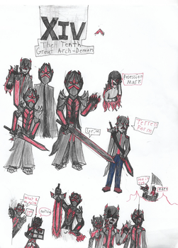 Xiv, The Tenth Great Arch-Demon by Firestormthedragolf