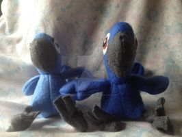 Plush Macaw Chicks -Rio- by lonesome-wolf-child