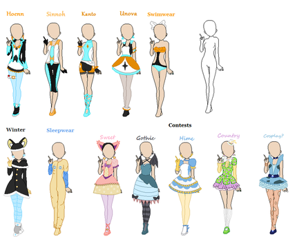 OC Outfits by iOhimesama
