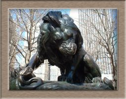 Lion in Rittenhouse Square PA by raverqueenage