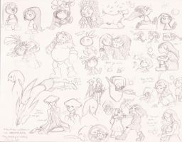 LoZ: Majora's Mask sketches by dynamo5
