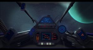 Star Wars Incom R10 Cockpit by AdamKop