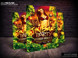 Tiki Bar Party Flyer Template v2 by Industrykidz