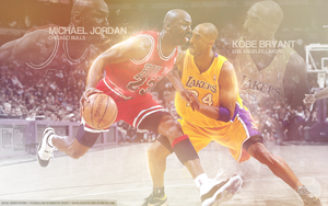 Michael Jordan vs Kobe Bryant by RafaelVicenteDesigns