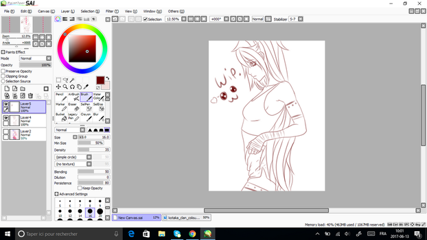 WIP. New Naruto Girl by JunCassis