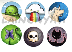 Animethon Button Set 1 by lainenyah