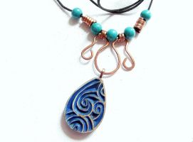 NECKLACE WITH DROP SHAPED PENDANT by MassoGeppetto