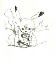 Pikachu Sketch by GreenMind-Dead