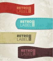 Vector retro grunge labels by Free-designs-net