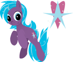 ShimmerSpark OC for FillyGamez by CreativPony