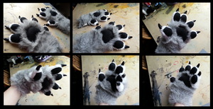 Pikawolfe Handpaws by CuriousCreatures