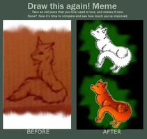 Draw me again - 2012 fox to 2013 wolffox? by Lunamania