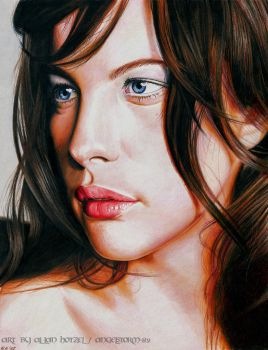 Liv Tyler Color pencil drawing by Angelstorm-82