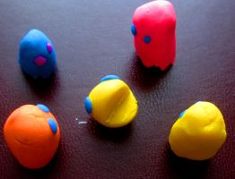 Pacman Erasers by claydoodles