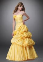 high quality A-Line Tube Long Satin Prom by godylins