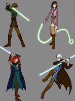 Big four: Jedi by Oreramar