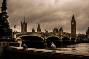 the houses of parliament by Katyma