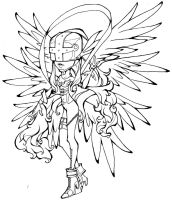 Digimon- Angewomon lineart by Glory-Day