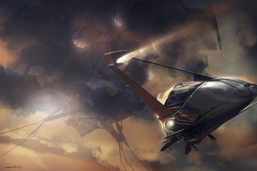 spaceship of the day by feerikart
