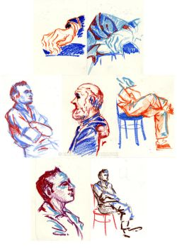 Studies with oil pastels by Emil-H
