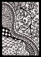 Monochrome Doodle ACEO 13 by Siobhan68