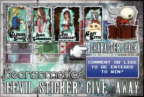FFVII Sticker Give Away - Character Pack by beanzomatic