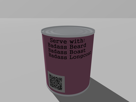 Sealed Badass In A Can - back by Roxor128