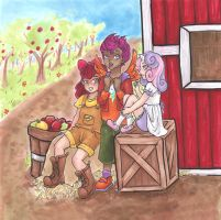 Cutie Mark Crusaders at Sweet Apple Acres by nickyflamingo