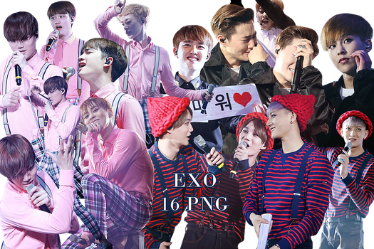 EXO PNG Pack {EXO'luXion Part.1} by kamjong-kai