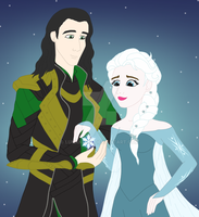 Loki and Elsa by LunaNuma