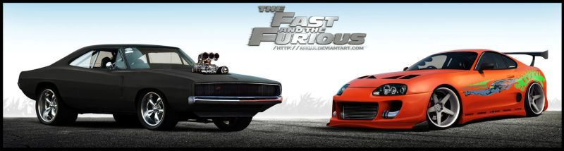 Fast And Furious Dodge Charger Toyota Supra by aNqUi