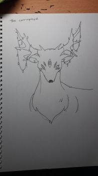 The All Seeing Deer (corrupted) by XxLeyanxX