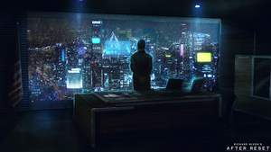 After Reset RPG illustration CORPORATOCRACY by blackcloudstudios