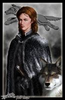 Robb Stark and Grey Wind by Amok by Xtreme1992