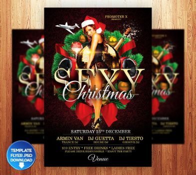Sexy Christmas Flyer Template by Grandelelo