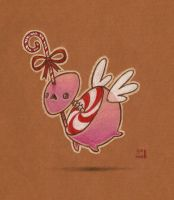 Candy cane monster - sketch by grelin-machin