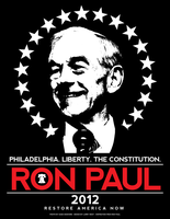 Ron Paul 2012 - Official Philadelphia Shirt Design by luvataciousskull
