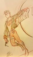 Superboy Megacon commission  by basakward
