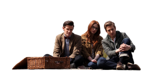 Doctor, Amy, and Rory PNG by sorryeyescansee