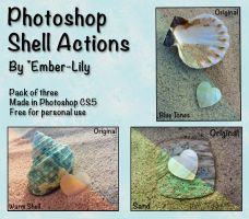Photoshop Shell Actions by Ember-Lily