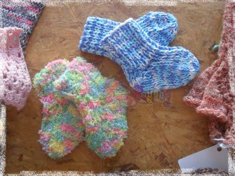 my knitting : simple baby sock by her-name-is-ajeng