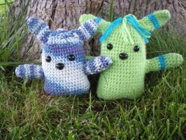 Blue and Green Bunny Amigurumi by Cool-Kakshi